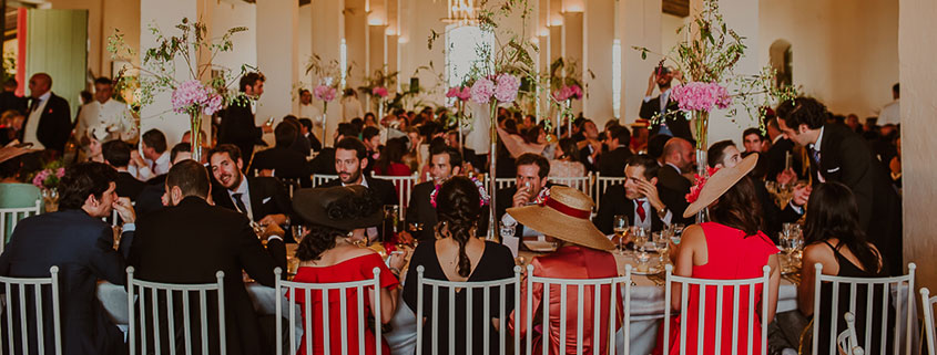mesa larga catering bodas